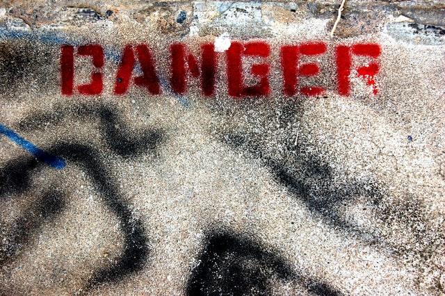 dangerのカリグラフ