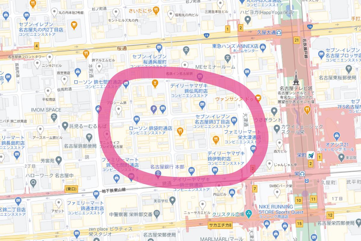 名古屋錦マップ